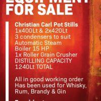 Distillery Equipment For Sale