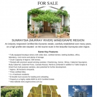 Bio-Dynamic & Organic Winery and Vineyard For Sale